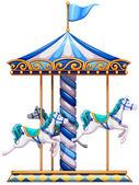 A merry-go-round ride — Stock Vector
