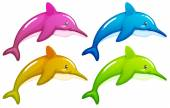 Four dolphins — Stock Vector