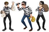 Three thieves — Stock Vector
