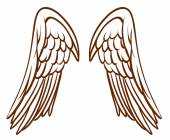 A simple sketch of an angel's wings — Stock Vector