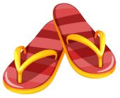 A pair of sandals — Vettoriale Stock