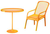 A table and chair furniture — Vector de stock