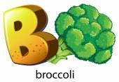 A letter B for brocolli — Stock Vector