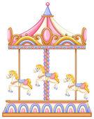 A merry-go-round rotating ride — Vector de stock