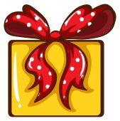 A coloured sketch of a Christmas gift — Stock Vector