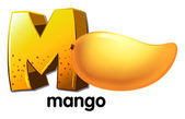 A letter M for mango — Stock Vector