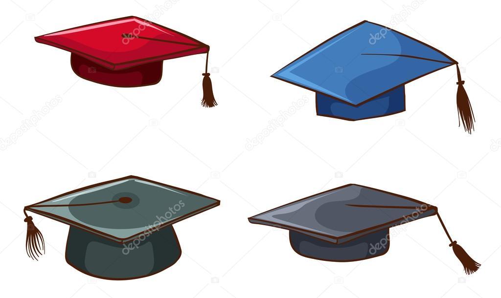 Simples bocetos de Birretes de graduación \u2014 Archivo Imágenes Vectoriales 54171959