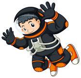 An astronaut floating — Stock Vector