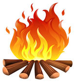 A fire — Stock Vector
