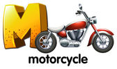 A letter M for motorcycle — Stock Vector