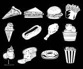Different foods — Vector de stock