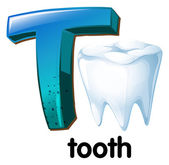 A letter T for tooth — Stock Vector