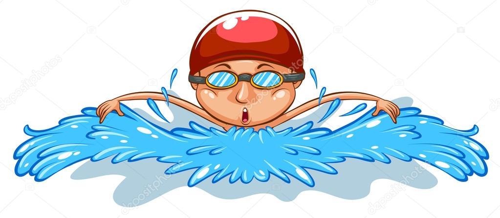 un simple dibujo de un hombre de nataci u00f3n vector de swimming clipart swimming clipart