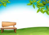 A wooden bench — Stock Vector