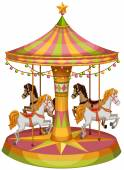 A merry-go-round horse ride — Stock Vector