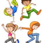 Dancing — Stock Vector #54593545