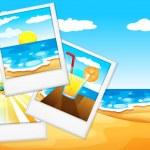 Photos at the beach — Stock Vector #54654349