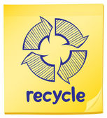 A notepad with a recycle label — Stock Vector