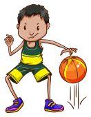 Basketball — Vector de stock