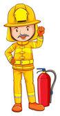 Цветной рисунок из пожарного — Cтоковый вектор