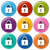 Botões de cadeado — Vetorial Stock