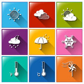 Forecast icons — Stock Vector