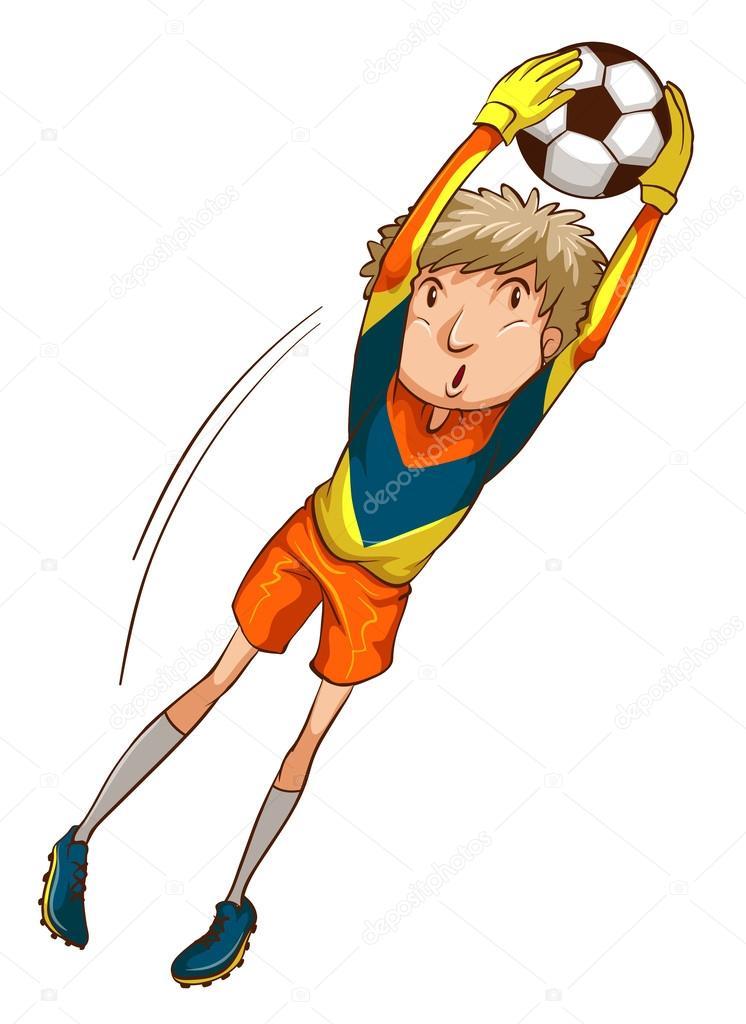 рисунки футболистов по клеточкам