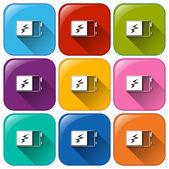 Battery buttons — Stock Vector