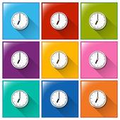 Botões do relógio — Vetorial Stock