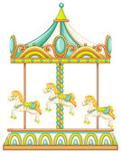 Merry go round — Stock Vector