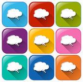 Symbole mit leere wolke vorlagen — Stockvektor