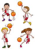 баскетболистов — Cтоковый вектор