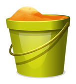 A pail with sand — Stock Vector