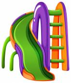 A colourful slide at the park — Stock Vector