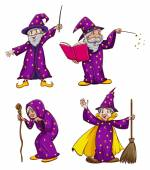 Four witches — Stock Vector
