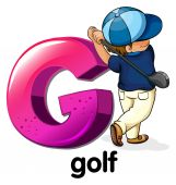 A letter G for golf — Vector de stock