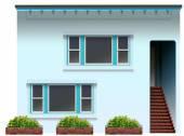 A blue house — Stock Vector