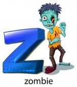 A letter Z for zombie — Stock Vector
