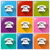 Buttons with telephones — Stock Vector