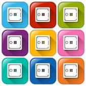 Buttons with locks — 图库矢量图片