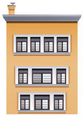 A tall office building — Stock Vector