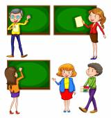 A coloured drawing of teachers — Stock Vector