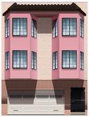 A big pink building — Stock Vector