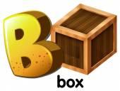 Ein buchstabe b box — Stockvektor