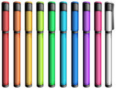Colourful markers — Stockvector