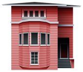 A pink building — Stock Vector