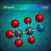 Ethanol molecules — Stock Vector