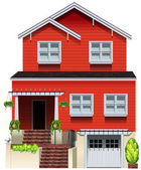A big wooden house — Stock Vector