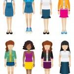 Women with no faces — Stock Vector #58631033