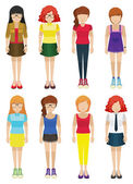 Faceless ladies — Stock Vector